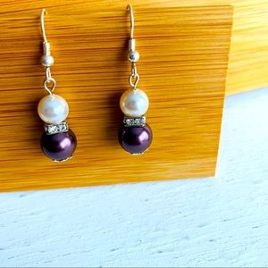 Swarovski Elements Handmade Pearls Earrings